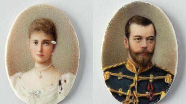 Коллекция из пяти живописных миниатюр, украшавших броши и подвеску императрицы Марии Фёдоровны, супруги Александра III