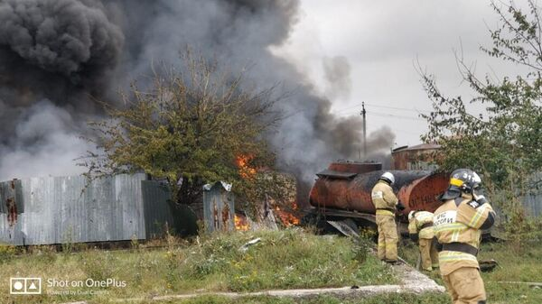 Пожар на АЗС в Чечне. 22 августа 2019