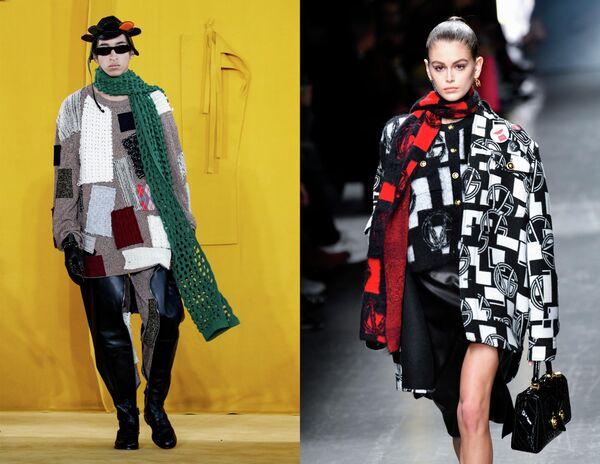 Показ коллекций одежды сезона Осень-Зима 2019/2020 Loewe Homme в Париже и Versace в Милане
