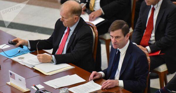Представители Соединенных штатов Америки на встрече высокого уровня формата С5+1 в Казахстане