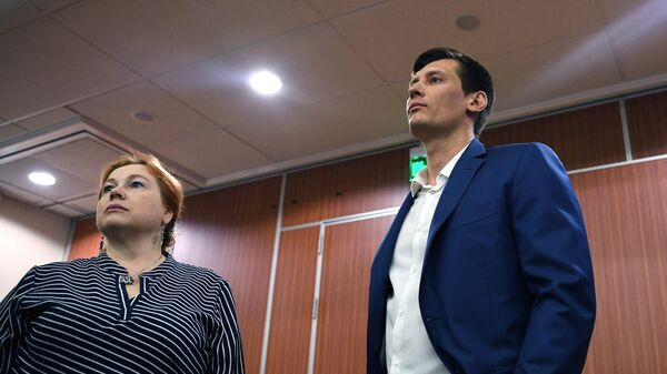 Незарегистрированный кандидат в депутаты Московской городской думы Дмитрий Гудков