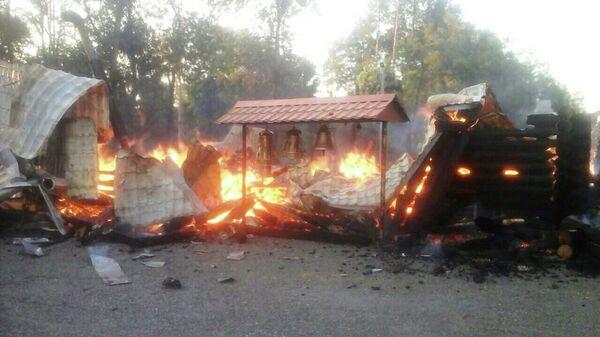 Церковь Украинской православной церкви сгорела в Ингулецком районе города Кривой рог. 25 августа 2019