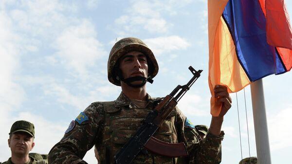 Военнослужащий подразделения Вооруженных сил Армении