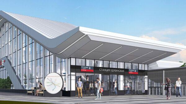 Проект станции Щукинская на втором Московском центральном диаметре (МЦД-2 Подольск-Нахабино)