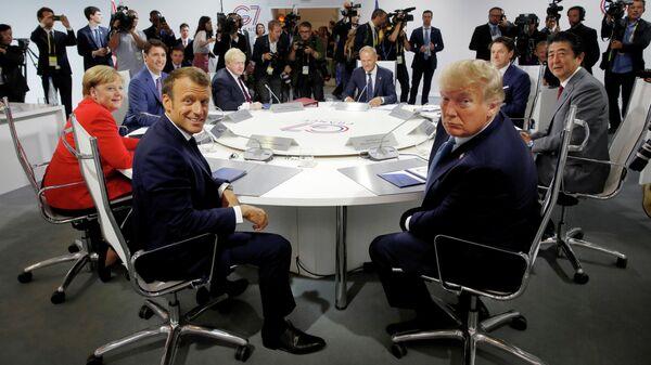 Саммит G7 в Биаррице, Франция. 25 августа 2019