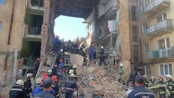 Взрыв в жилом доме в городе Дрогобыч в Львовской области Украины