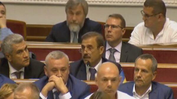 Выступление депутата Рады Антона Киссе на заседании парламента
