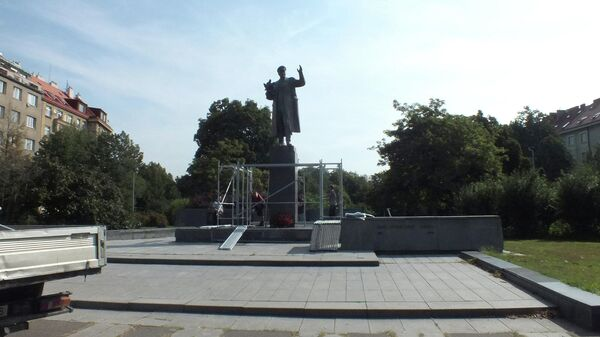 Памятник маршалу Советского Союза И.С.Коневу в Праге
