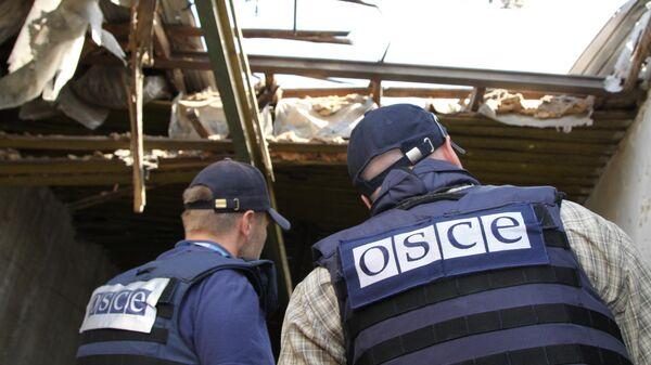 Представители Специальной мониторинговой миссии ОБСЕ