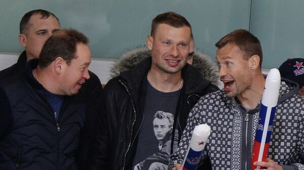 Леонид Слуцкий, Алексей Березуцкий и Василий Березуцкий (слева направо)