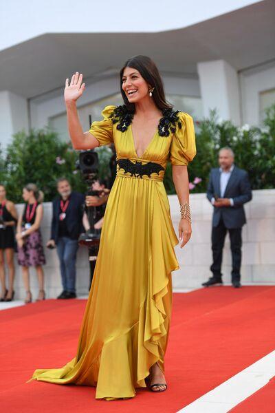 Актриса Алессандра Мастронарди на красной дорожке премьеры фильма Брачная история в рамках 76-го Венецианского международного кинофестиваля