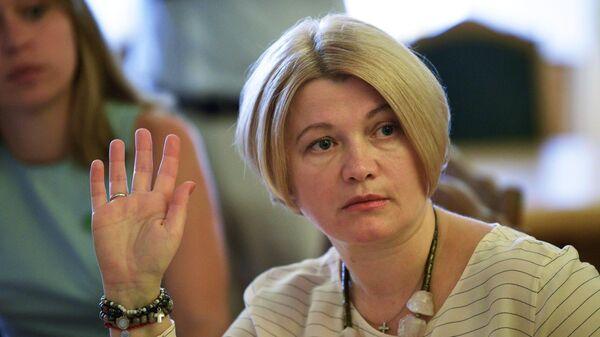 Народный депутат партии Европейская Солидарность Ирина Геращенко во время заседания Верховной рады Украины в Киеве