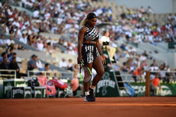 Теннисистка Серена Уильямс на турнире Ролан Гаррос-2019 в Париже