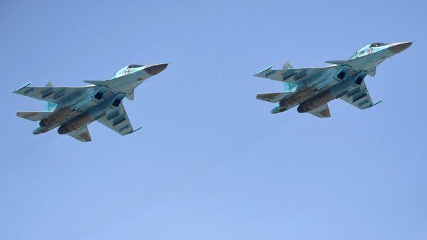СМИ сообщили подробности столкновения двух Су-34 в небе над Липецком