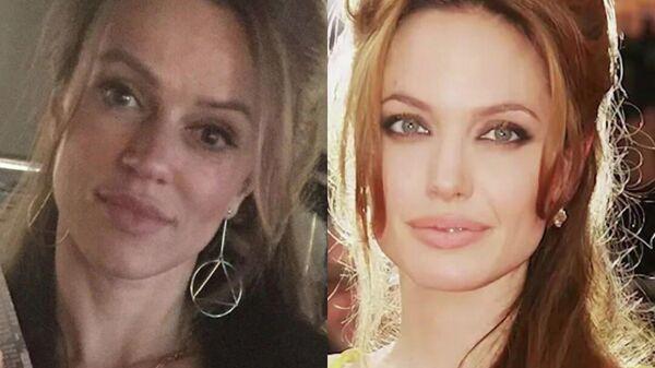Ирина в образе Джоли