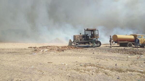 Пожар на полигоне ТБО в Волгодонске. 10 сентября 2019