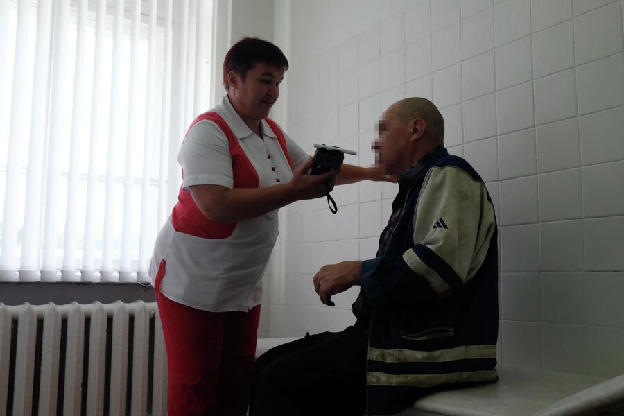 Старший фельдшер пункта оказания помощи лицам, находящимся в состоянии алкогольного опьянения, Надежда Александра Леднева