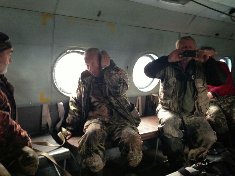 Лункой. Север тюменского края. В вертолете с друзьями