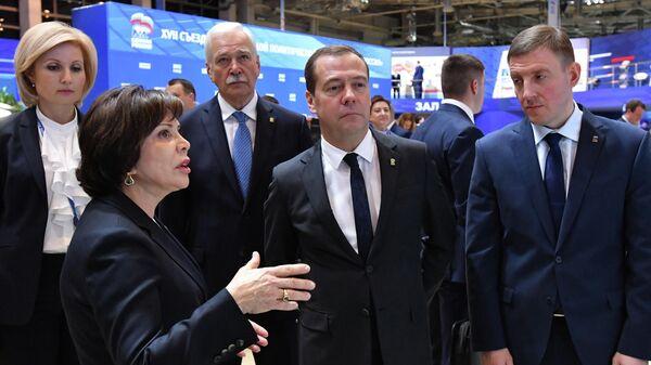 Премьер-министр РФ Д. Медведев принял участие в мероприятиях в рамках XVII Съезда партии Единая Россия