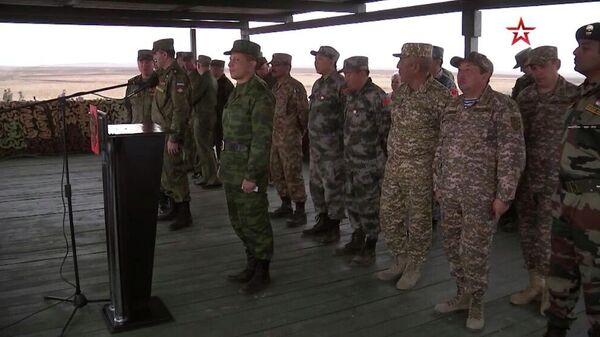 Церемония открытия стратегического командно-штабного учения Центр-2019