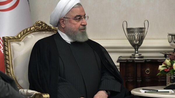 Президент Ирана Хасан Рухани во время встречи в Анкаре с президентом РФ Владимиром Путиным