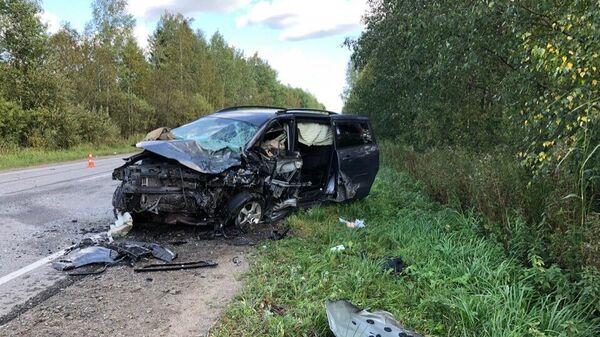 Автомобиль Валерия Боковенко, попавший в ДТП в Тосненском районе Ленинградской области
