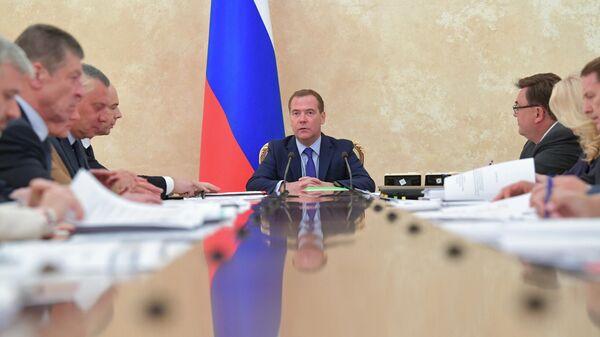 Председатель правительства РФ Дмитрий Медведев проводит совещание о прогнозах социального развития и бюджете на 2020 год и плановый период 2021 года