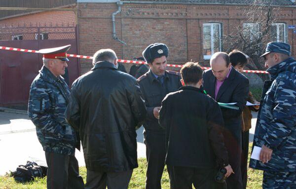 Сотрудники правоохранительных органов во Владикавказе