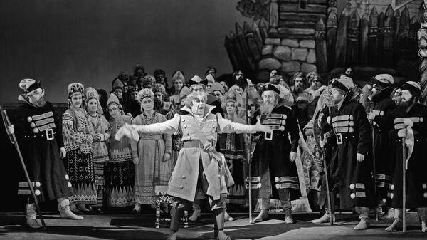 Фрагмент оперы Сказка о царе Салтане Большого театра 1959 года