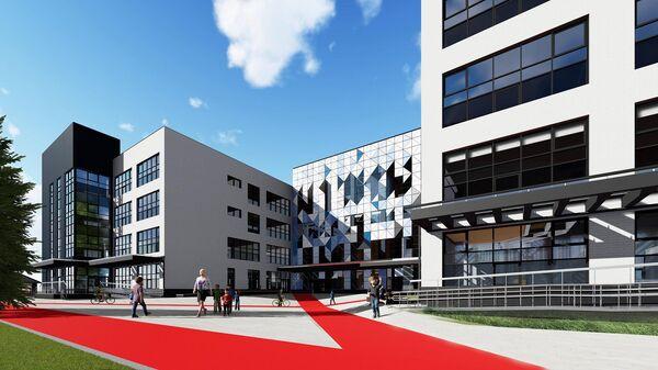 Проект школы в авангардном стиле в московском районе Левобережный