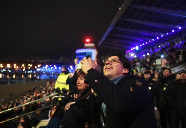 Посетители на закрытии фестиваля Круг света 2019 в Москве
