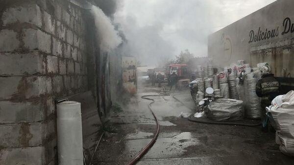 Пожар на пластиковом производстве в Мытищах. 26 сентября 2019