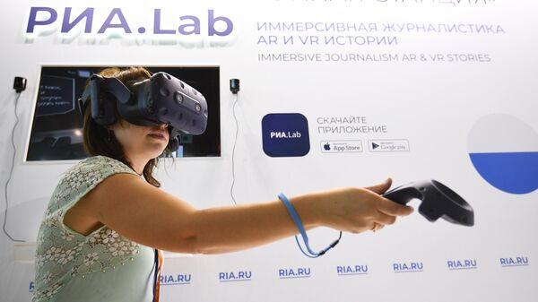 VR-очки в презентационной зоне РИА.Lab на стенде МИА Россия сегодня