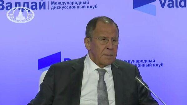 Выступление Министра иностранных дел РФ Сергея Лаврова на заседании Международного дискуссионного клуба Валдай