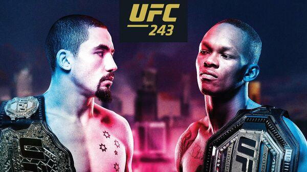 Официальный постер к турниру UFC 243 в Мельбурне