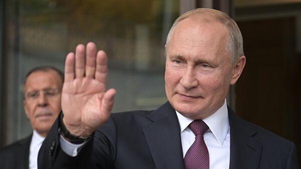 Президент РФ Владимир Путин в Сочи