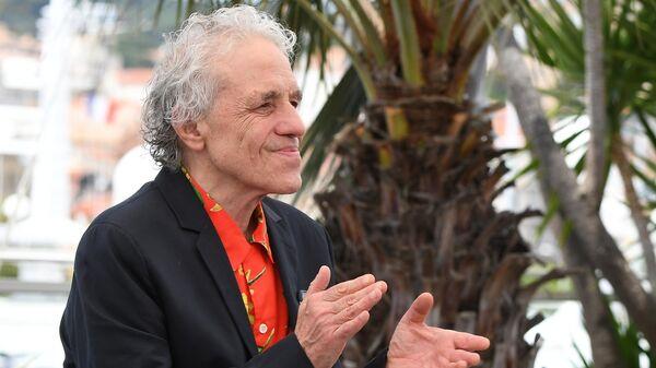 Режиссер Абель Феррара перед фотосессией фильма Томас (Tommaso) в рамках 72-го Каннского международного кинофестиваля
