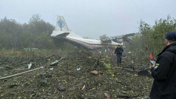 Место аварийной посадки самолета Ан-12 на Украине
