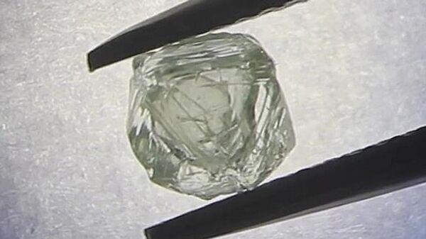 Двойной алмаз, добытый компанией Алроса в Якутии