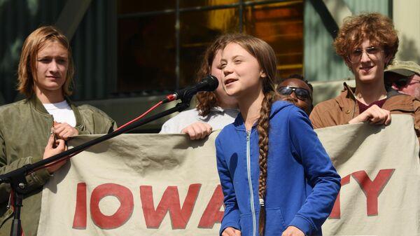 Митинг с участием экоактивистки Греты Тунберг