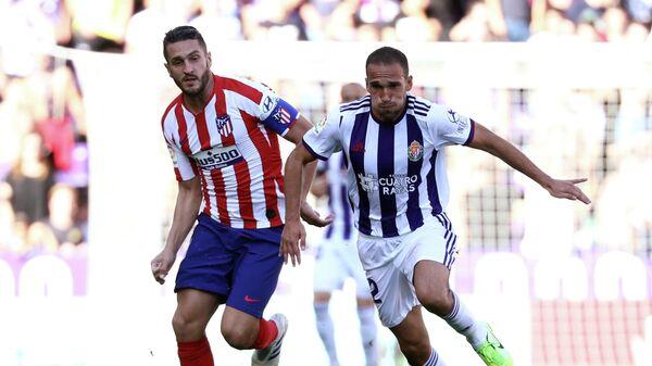 Игровой момент матча Атлетико - Вальядолид