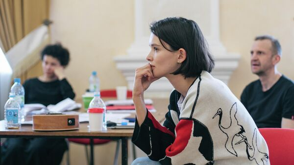 Фрагмент репетиции спектакля Борис Дмитрия Крымова