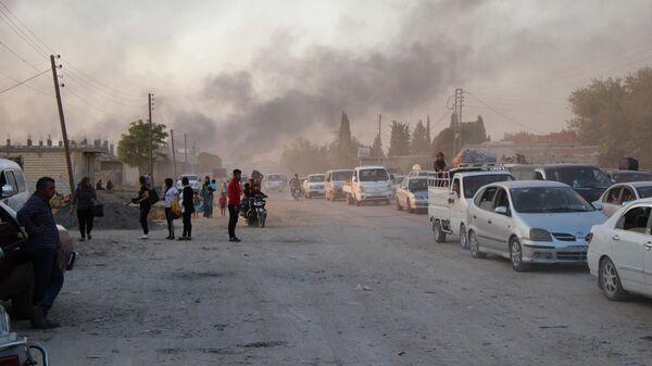Обстрел Рас эль-Айна в Сирии турецкими силами