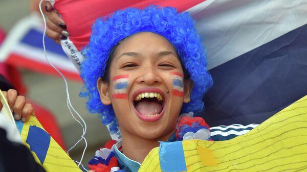 Болельщица сборной Таиланда по футболу