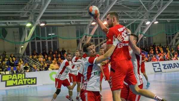Таганрог - Каустик в матче чемпионата России по гандболу