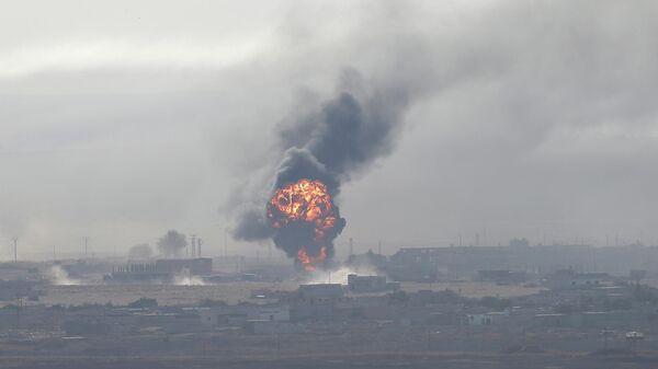 Взрыв в городе Рас-эль-Айн на северо-востоке Сирии. 11 октября 2019