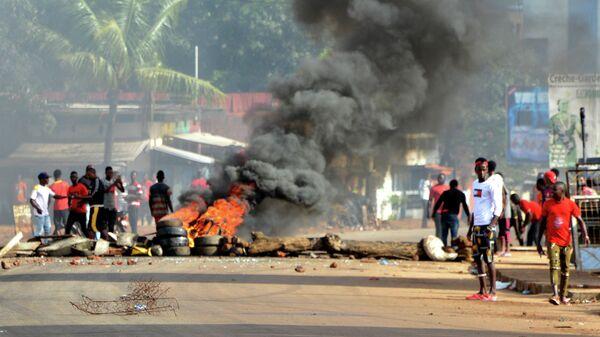 Акция протеста в Конакри, Гвинея