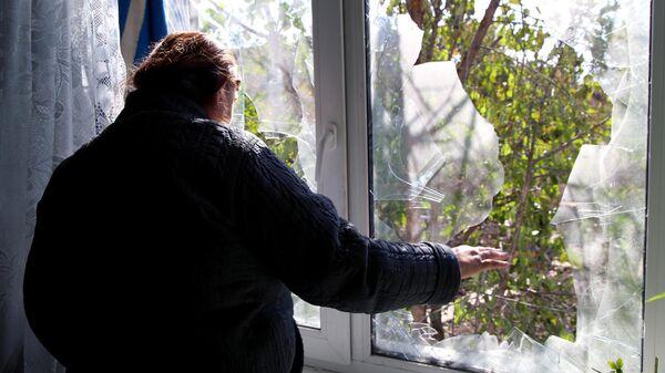 Последствия обстрела в поселке Ясное Донецкой области