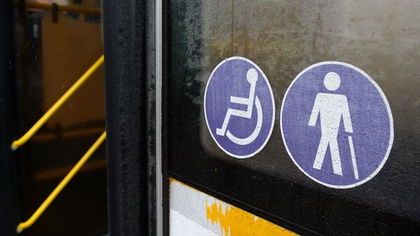 Опознавательный знак Инвалид на автобусе