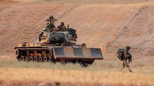 Турецкие войска в районе Манбиджа, Сирия